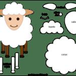 Molde de Ovelha para Feltro – EVA e Artesanato 1