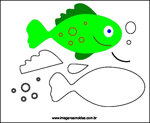 Molde de Peixe Para EVA Feltro e Artesanato 6
