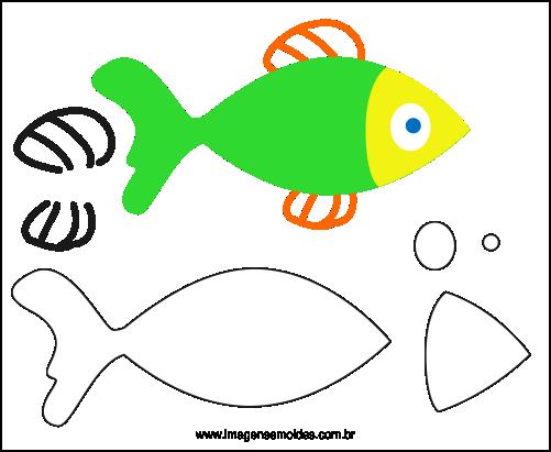 Molde de Peixe para Eva - Feltro e Artesanatos 2