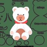 Molde de Ursinho para EVA – Feltro e Artesanatos 2