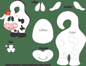Molde de Vaca para EVA - Feltro e artesanato5