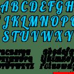 Moldes de Letras Cursivas para Feltro, E.V.A e Artesanatos – 3