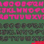 Moldes de Letras Cursivas para Feltro, E.V.A e Artesanatos – 2