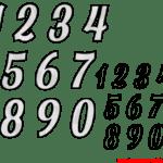 Moldes de Números – 4