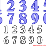 Moldes de Números para Feltro, E.V.A e Artesanatos – 2