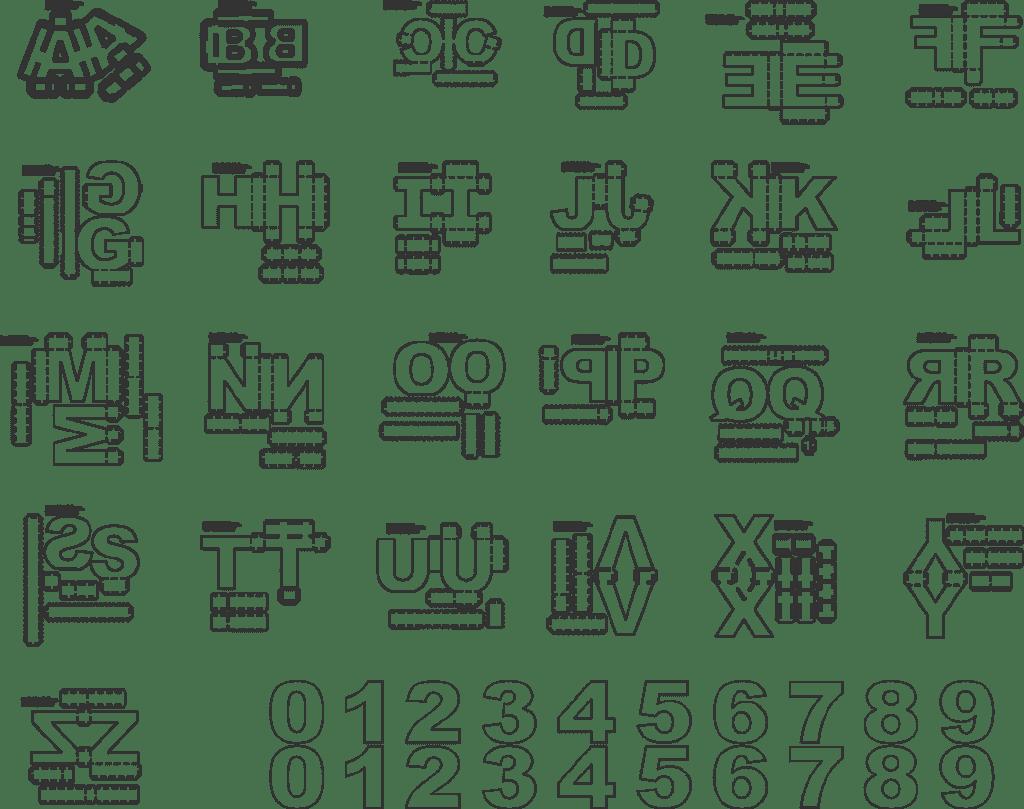 alfabeto 3d para silhouette imagens e moldes máquina de recorte