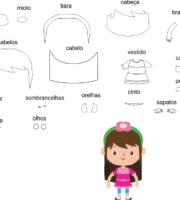 molde crianças meninas Eva-Feltro e artesanatos 2