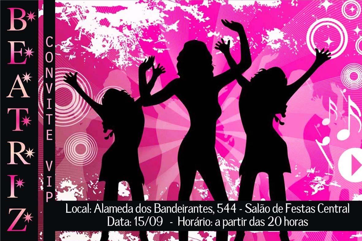 convite para festa balada