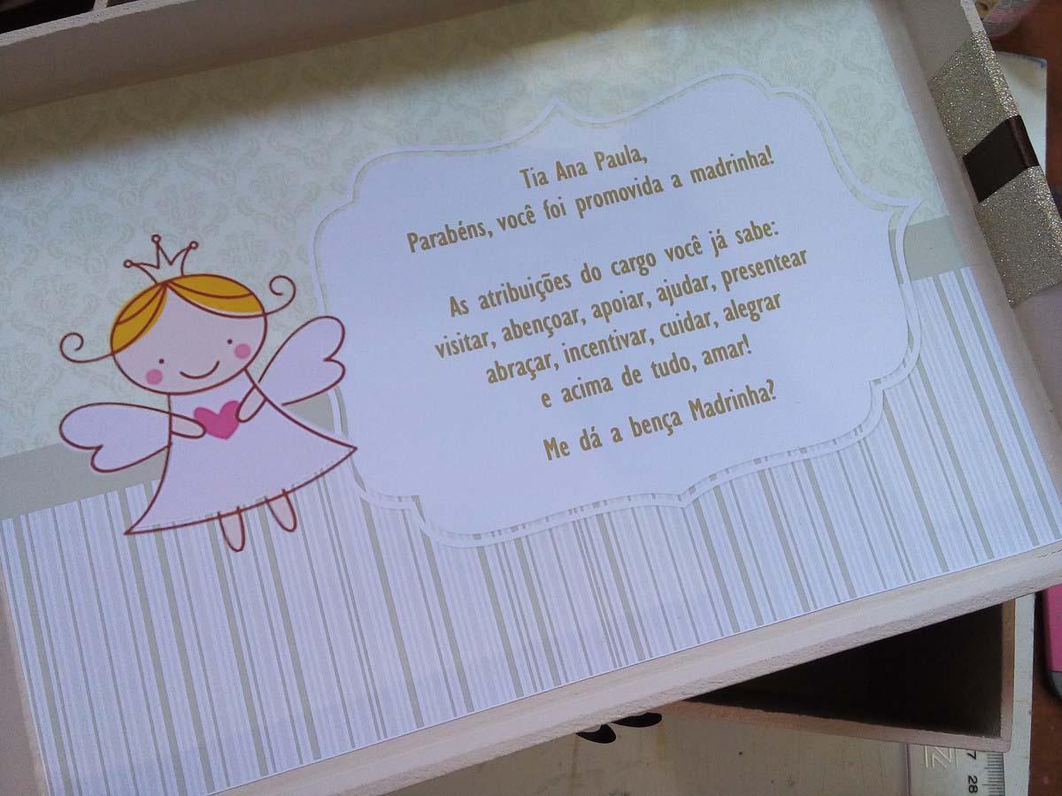 convite de madrinha para batizado