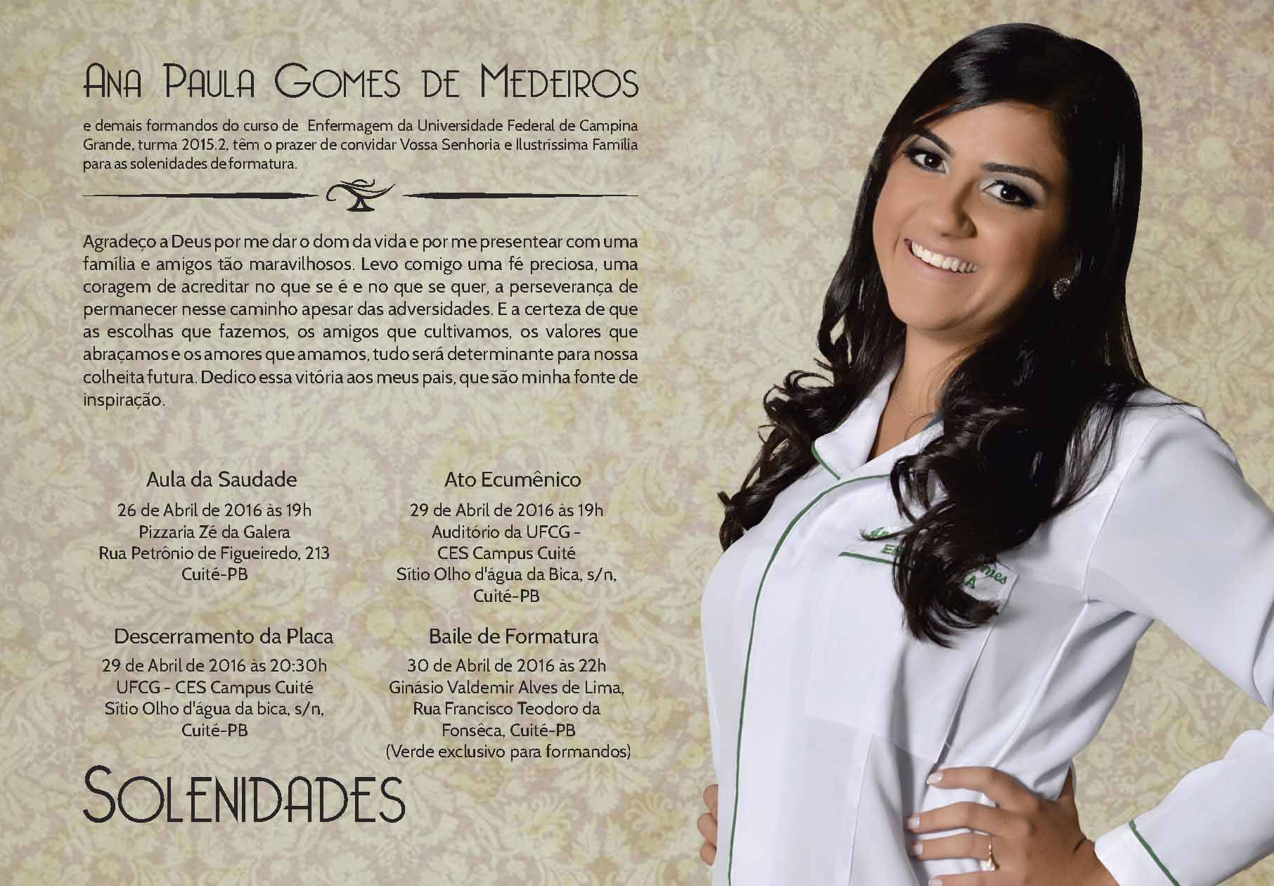 Modelos De Convites De Formatura De Enfermagem