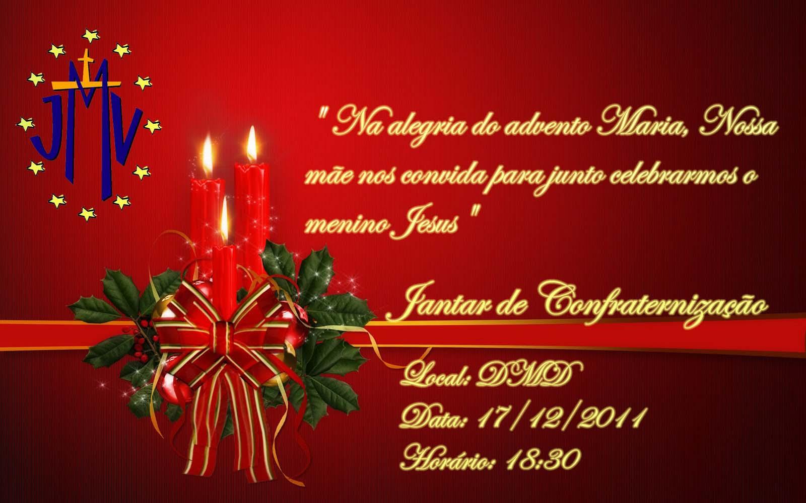 convite para natal