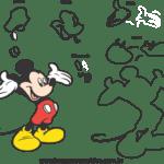 Molde do Mickey para EVA, Feltro e Artesanato