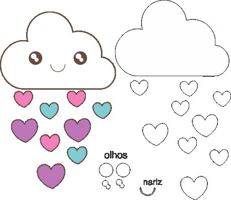 Molde Chuva de Amor EVA - Feltro e Artesanatos 12