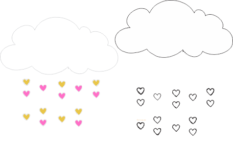 Molde Chuva de Amor eva - Feltro e Artesanatos 16