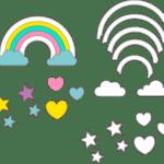Molde Chuva de Amor Feltro – EVA e Artesanatos 20