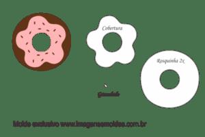 Molde Doces - Rosquinha - Molde para EVA - Feltro e Artesanato