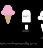 Molde Doces -Sorvete Picolé - Molde para EVA - Feltro e Artesanato