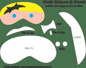 Molde Máscara de Dormir Alice País Maravilhas - Molde EVA e Feltro