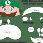 Molde Máscara de Dormir Luigi – Molde Feltro e EVA