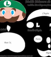 Molde Máscara de Dormir Luigi - Molde EVA e Feltro