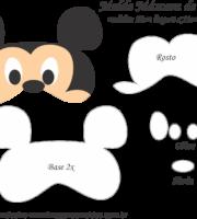 Molde Máscara de Dormir Mickey - Molde para EVA - Feltro e Artesanato