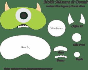 Molde Máscara de Dormir Mike M SA - Molde EVA e Feltro