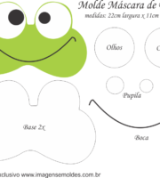 Molde Máscara de Dormir Sapo - Molde para EVA - Feltro e Artesanato