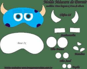 Molde Máscara de Dormir Sullivan M SA - Molde EVA e Feltro