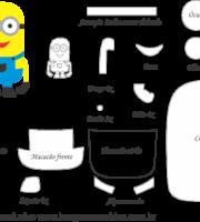 Molde Minions 1 - Moldes de EVA - Feltro e Artesanato