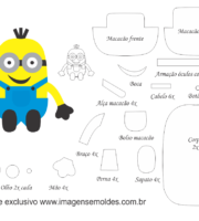 Molde Minions 4 - Moldes de EVA - Feltro e Artesanato