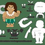 Molde Moana – Maui – Molde para Feltro – EVA e Artesanato