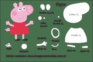 Resultado de imagen para molde peppa pig em feltro
