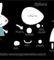 Molde Peppa Pig - Rebecca - Molde para EVA - Feltro Artesanato