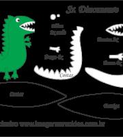 Molde Peppa Pig - Sr Dinossauro - Molde para EVA - Feltro e Artesanato