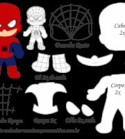 Molde Personagem - Homem Aranha - Molde para EVA - Feltro e Artesanato