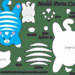 Molde Porta Caneca Gato Azul – Molde para Feltro – EVA e Artesanato