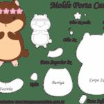 Molde Porta Caneca Hamster – Molde para Feltro – EVA e Artesanato