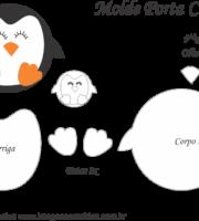 Molde Porta Caneca Pinguim- Molde para EVA - Feltro e Artesanato