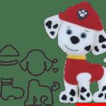Molde da Patrulha Canina Para E.V.A. Feltro e Artesanato – MARSHALL