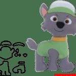 Molde da Patrulha Canina Para E.V.A. Feltro e Artesanato – ROCKY
