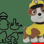 Molde da Patrulha Canina Para E.V.A. Feltro e Artesanato – RUBBLE