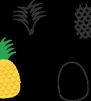 Molde de Abacaxi para EVA - Feltro e Artesanatos1.1