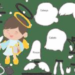 Molde de Anjinha para Feltro – EVA e Artesanatos 1
