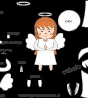 Molde de Anjinha para EVA - Feltro e Artesanatos 3