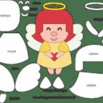 Molde de Anjinha para Feltro – EVA e Artesanatos 4