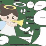 Molde de Anjinha para Feltro – EVA e Artesanatos 6