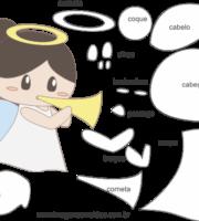 Molde de Anjinha para EVA - Feltro e Artesanatos 6