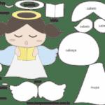 Molde de Anjinha para Feltro – EVA e Artesanatos 7