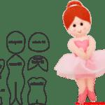 Molde de Bailarina Para E.V.A. Feltro e Artesanato – 1