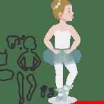 Molde de Bailarina Para E.V.A. Feltro e Artesanato – 15